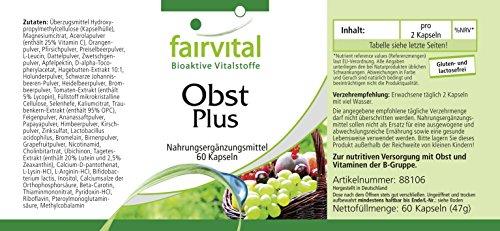 Fruta y verdura Plus - 120 cápsulas - vegano - polvo de fruta y verdura de alta calidad con enzimas y cultivos benevolentes - multivitamínico: Amazon.es: ...
