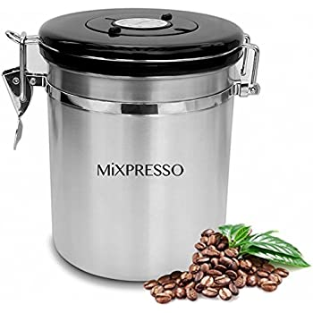 Amazoncom Stainless Steel Coffee Container Airtight Coffee Vault