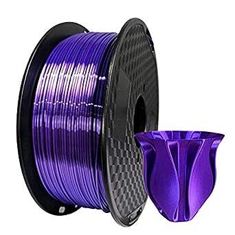 Kehuashina - Filamento PLA para impresora 3D (seda morada, 1,75 mm ...