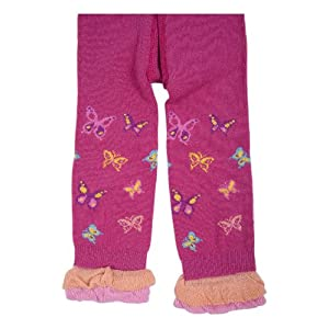 Kids Capri Leggings with Ruffles: Size: 12-24 Month, Color:Hot. Pink (Price from The Manufacturer)
