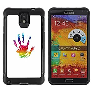 Suave TPU GEL Carcasa Funda Silicona Blando Estuche Caso de protección (para) Samsung Note 3 / CECELL Phone case / / Paint Hand Mark Colorful Art Oil /