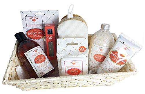 Facial Blossom Cream Orange (Bolero 6 Piece Relaxing Bath and Body Gift Set (Mango and Orange Blossom))