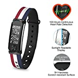 Q-Band Q-68HR-03 Accurate Health & Fitness Tracker Watch, 100 Hours Heart Rate Monitor, Bluetooth Activity Tracker, Sunlight Readable Scratch-Resistant Big Screen, Pedometer Band