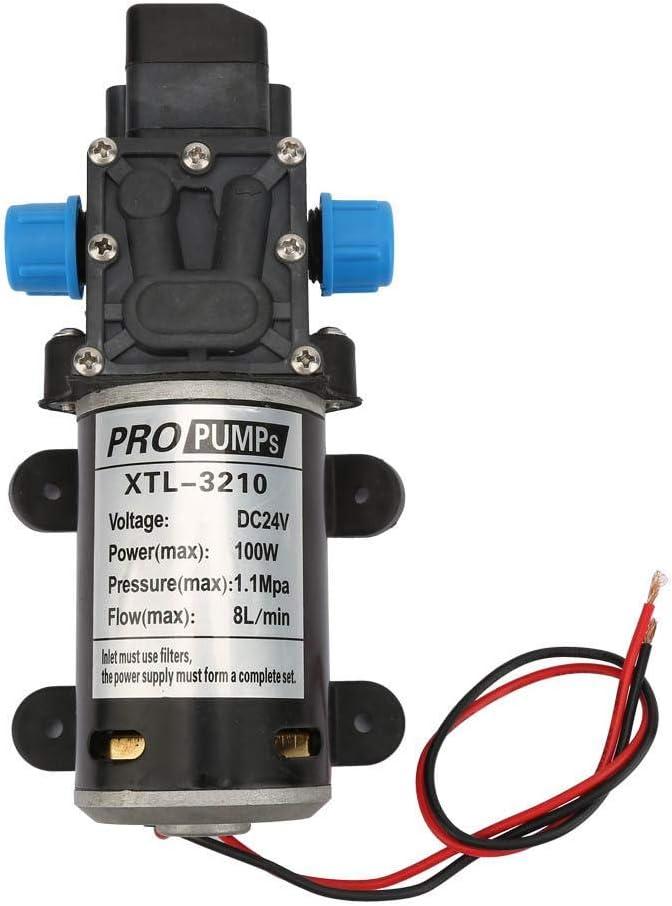Wasserpumpe 24v 100w 8l M Membranpumpe Maximale Förderleistung 70m Starke Leistung Für Hochdruckreiniger Wassersprinkler Pestizidbegasung Baumarkt