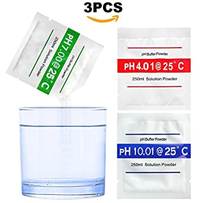 Bihood PH Buffer Solution Buffer PH Buffers Easy PH Powder PH Buffer Powder Calibration Solution Powder Buffer Solution Precise Soil PH Meter Buffering Solutions PH 4.01 PH 7.00 PH 10.01
