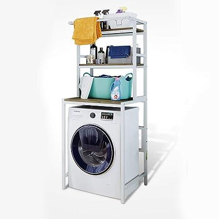 Estante de la lavadora Estantería de baño cuadrada de acero al ...