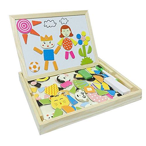 Tribe puzzles en bois magn tique jouets educatif jeu de for Jeu de construction en bois 4 ans
