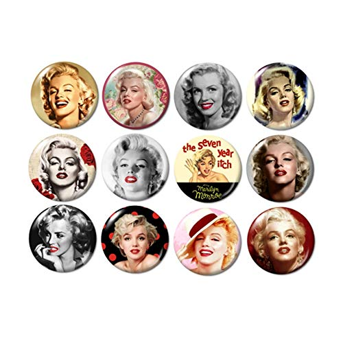 - Marilyn Monroe Buttons Pins (set #2)