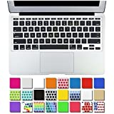 """DHZ® AIR-11inch Ultra Thin Keyboard Cover Silicone Skin for Apple MacBook Air 11.6"""" Models: A1370 and A1465 - (USA KEYBOARD VERSION) (Black)"""
