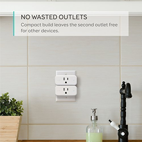 eufy Smart Plug Mini, Works With Amazon Alexa and the Google Assistant, Wi-Fi Enabled, White, No Hub Required, Set Schedules, Countdown Timer, Control Remotely, Away Mode, with Energy Monitoring