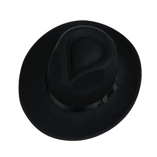 Zantec Sombrero Fedora de fieltro de lana unisex Sombrero ancho de Jazz de  Fedora de ala ancha para hombre de 58-60 cm  Amazon.es  Hogar fde663a64cd