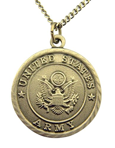 Pewter United States Army Saint Michael Military Medal, 1 Inch