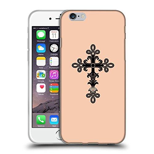 "GoGoMobile Coque de Protection TPU Silicone Case pour // Q07890604 Christian Cross 14 Abricot // Apple iPhone 6 PLUS 5.5"""