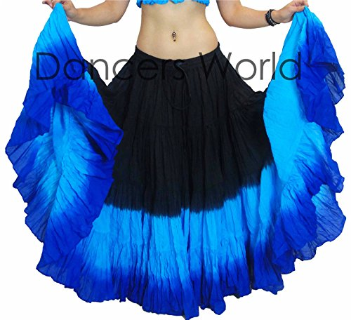 Dancers World Ltd (UK Seller) 25 Yard Yards Tribal Gypsy Cotton Belly Dancing Dance Skirt ATS Shaded Design - Size US-Canada 10-22 (9) (Top 10 Belly Dancers In The World)