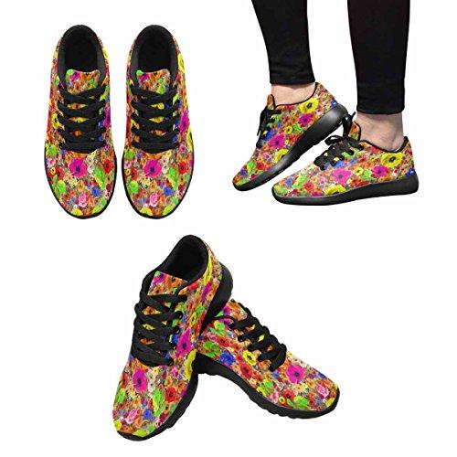 Scarpa Da Jogging Leggera Da Donna Running Running Leggera Easy Go Walking Casual Comfort Scarpe Da Corsa Fantasia Floreale Multi 1