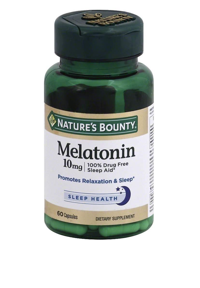 Nature's Bounty Maximum Strength Melatonin 10mg Capsules, 360-Count Bounty -hres