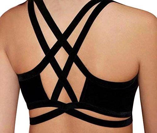Sexy Women Strappy Cagged Corset Bralette Bustier Bikini Crop Top Camisole Vest