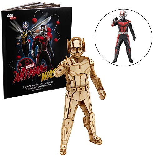 """IncrediBuilds Marvel Ant-Man and The Wasp Book and 3D Wood Model Kit - Build, Paint and Collect Your Own Wooden Model - Great for Kids and Adults, 12+ - 7"""" h from IncrediBuilds"""
