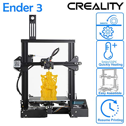 CCTREE 2019 New Version Creality Ender 3 3D Printer Aluminum DIY with Resume Printing for Home & School Use 220x220x250mm (Best Dual Extruder 3d Printer 2019)