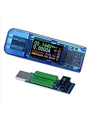 Medidor de potencia USB 3.0 con carga USB, multímetro digital, detector de voltaje de corriente DC 30.00 V 4.0000A, velocidad de prueba de cables de carga, QC 2.0/3.0 AP 2.4A