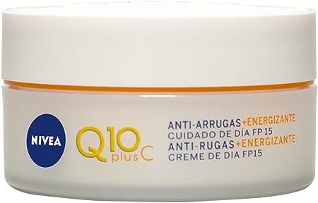 NIVEA Q10plusC Anti-Arrugas + Energizante Cuidado de Día (1 x 50 ml), crema energizante con FP15, crema de día antiedad con coenzima Q10, crema facial revitalizante
