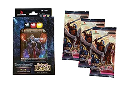 Dragoborne Rise To Supremacy: Shadow Legion Trial Deck + 3 Rally to War Booster Packs by Bushiroad