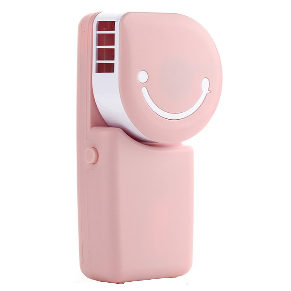 Sammid Mini Handheld Personal Fan, Portable Mini Air Conditioner Fans for Office - Pink