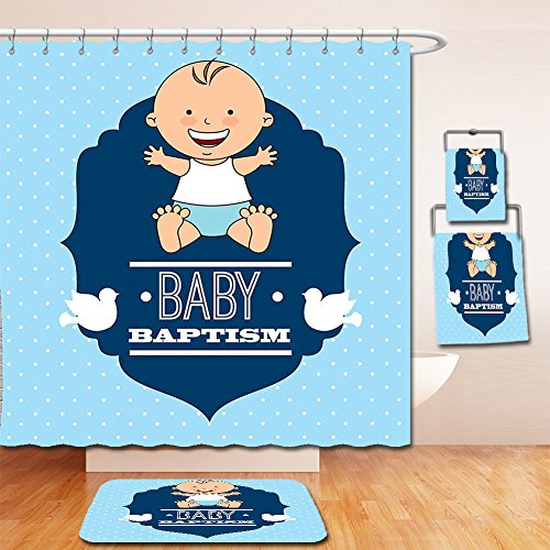 Nalahome Bath Suit: Showercurtain Bathrug Bathtowel Handtowel Baptism Decorations Baptism Laughing Baby Boy Hope Belief Symbol Joy Sacramento - Sacramento Macys