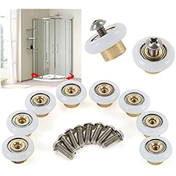 Amazon Com Shower Door Rollers Sliding Tub Shower Door