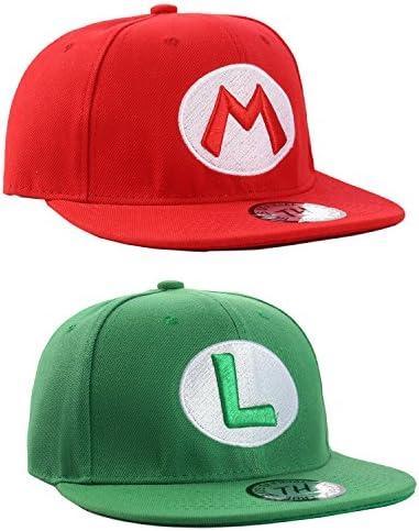Gorras de Baseball Super Mario y Luigi por True Heads (Pack Doble): Amazon.es: Ropa y accesorios
