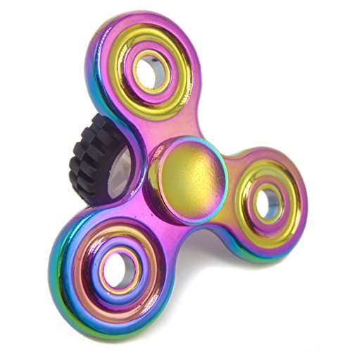 Fidget Hand Spinner Toy by Hoybe - Perfect to Quit Smoking, Relieve ADHD Anxiety, Reduce Stress, Help Focus and Kill Time - Ideal for Autism Adult and Children