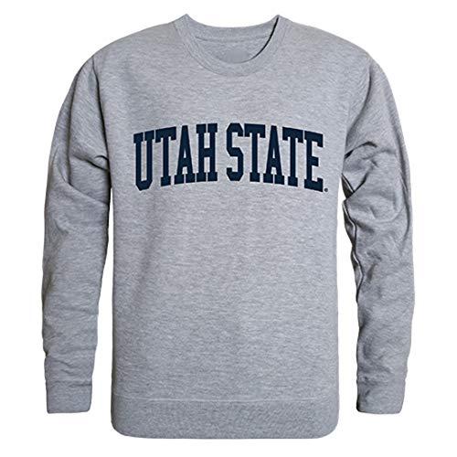 (W Republic USU Utah State University Aggies NCAA Men's Game Day Crewneck Fleece Sweatshirt - Medium, Heather Grey )
