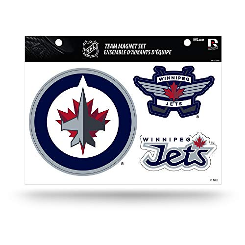 Nhl Team Helmet - NHL Winnipeg Jets Die Cut Team Magnet Set Sheet