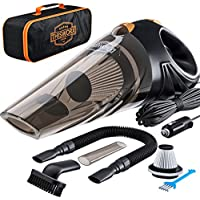 ThisWorx TWC-01 12V Portable Car Vacuum Cleaner with 16 Ft Cable & Bag (Black)