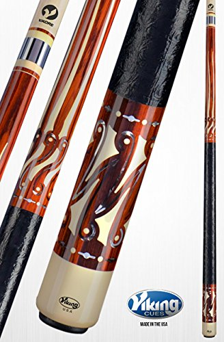 Ivory Pool Cue - Viking A781 Pool Cue Stick 114 African Holly Wood & Mirror Inlays Ivory (IMA) & Central American Cocobolo Rings Quick Release Joint ViKORE Shaft 18, 18.5, 19, 19.5, 20, 20.5, 21 oz. (19)