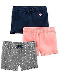 Simple Joys by Carter's - Pantalones Cortos de Punto para niña (3 Unidades)