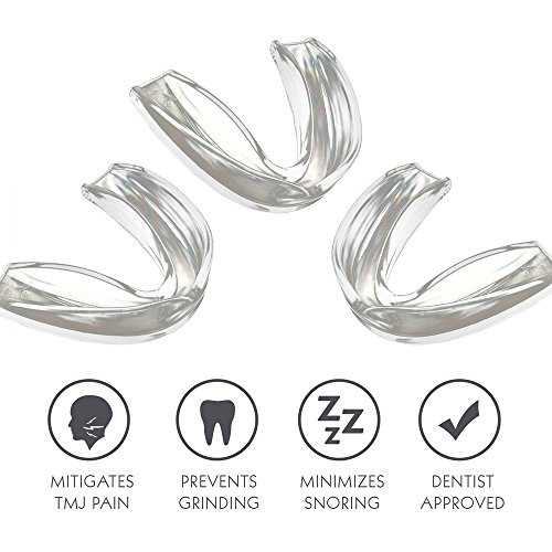 TMJ Mouth Guard Night Time for Grinding Teeth, Bruxism, And Clenching - Includes 3 Custom Fit Professional Dental Guards - Dentist Approved by Dentalab (Image #2)