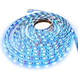 Led Light Strip - EVAIKON Flexible Light Strips UL Listed Power Supply, 5050 SMD Tape Lighting, Compatible with Alexa & Google Home, 16.4 Ft(5M) 300leds RGB 60leds/m,35-40lumen/led,10mm width (5M)