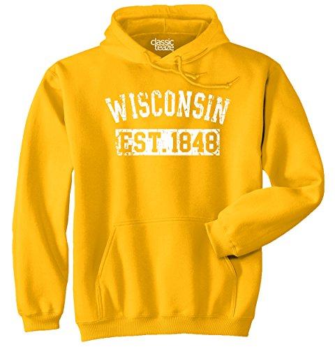 Classic Teaze Wisconsin State Printed Hooded Sweatshirt -