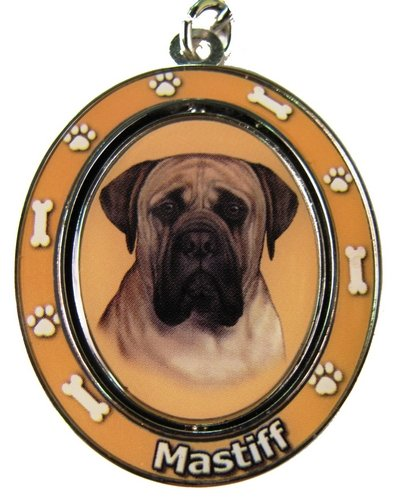 """Mastiff Key Chain """"Spinning Pet Key Chains""""Double Sided Spinning Center With Mastiffs Face Made Of Heavy Quality Metal Unique Stylish Mastiff Gifts"""