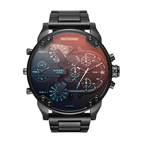 chollos oferta descuentos barato Diesel Reloj Analogico para Hombre de Cuarzo con Correa en Acero Inoxidable DZ7395