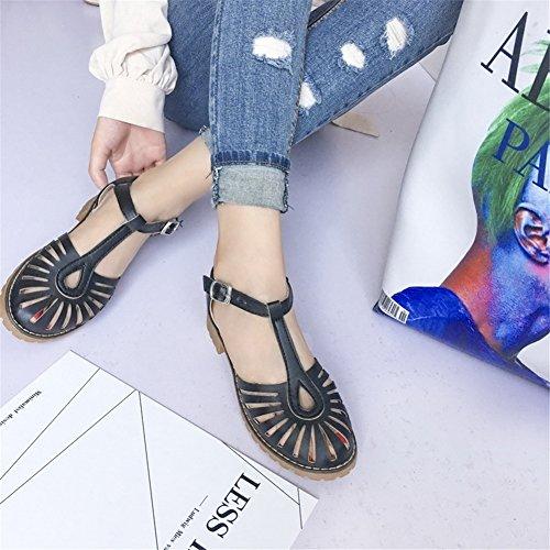 Tacón Zapatos Mujer Noche de Sandalias Primavera Verano PU Blanco bajo de Casual Beige para Brillante y Do de Tacón Vestido Fiesta Negro Zapatos Rosa el 0AnzpHx