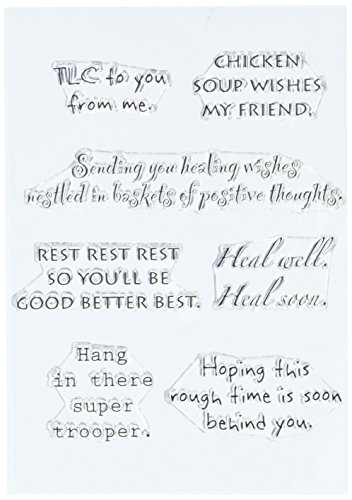 Well Cards Wishes Get (Stampers Anonymous Words to The Rescue Stamp Set, 8 by 4.5-Inch, Get Well, Clear)