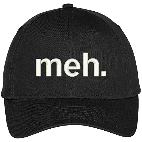 MEH Funny Expression Embroidered Baseball Cap - Black (Funny Caps)
