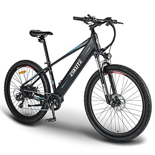 ESKUTE E-bike MTB Elektrische Fiets Mountainbike Voyager 27.5″ met 48V 10Ah Lithium Batterij, Volwassen Elektrische Fiets 250W, Shimano 7 Versnellingen, Vertrouwelijke e-bike voor het Verkennen