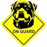 Rottweiler Dog - On Guard Home / Car Sticker Sign / Window Decal Bumper