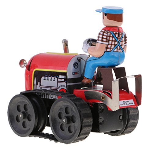 MagiDeal Classic Farm Tractor Tin Toy Collectible Clockwork Wind Up Toys Children Adult Gifts by MagiDeal