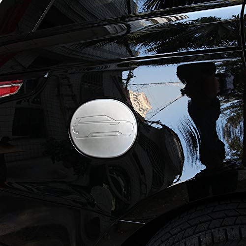 ABS Chrome Plastic Fuel Tank Cap Cover Trim Auto Accessories Matte Silver for Land Rover Range Rover Sport - Trim Fuel