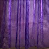 Purple Shower Curtain Adwaita 3D Crystal Pattern Mildew Free EVA Bathroom Shower Curtain Liner-Eco Friendly, No Mildew, No Odors, No Chemicals(Purple)