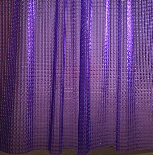 Adwaita 3D Crystal Pattern EVA Bathroom Shower Curtain Liner Violet Shower Curtain (Purple)
